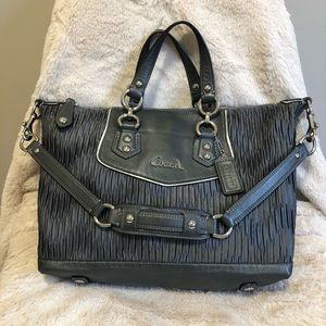Coach Ashley Convertible Gray Bag/ Purse